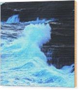 Where The Land Meets The Ocean Wood Print