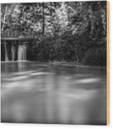 Where The River Ends Wood Print
