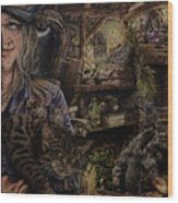 Which Witch Is Which Wood Print by Robert Haasdijk