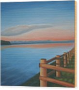 Whidbey Island Sunset Wood Print