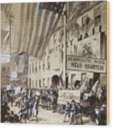 Whig Party Parade, 1840 Wood Print