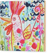 Whimsical Chicken Wood Print