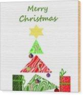 Whimsical Christmas Tree Wood Print