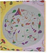 Whimsical Circle Wood Print