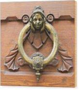 Whimsical Door Knocker Wood Print
