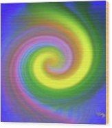 Whimsical Inward Twirls #111 Wood Print