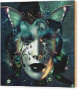Whimsical Masquerade Wood Print