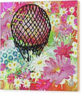 Whimsical Musing High In The Air Wood Print