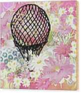 Whimsical Musing High In The Air Pink Wood Print