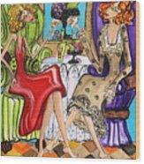 Whinning Women Iv Wood Print