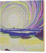 Whirling Sunrise - La Rocque Wood Print by Derek Crow