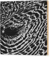 Whirlpool Abstract - Bw Wood Print