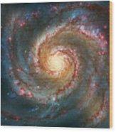 Whirlpool Galaxy  Wood Print by Jennifer Rondinelli Reilly - Fine Art Photography