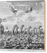 Whirlpool: Maelstrom, 1678 Wood Print