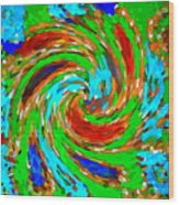 Whirlwind - Abstract Art Wood Print