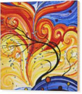 Whirlwind By Madart Wood Print
