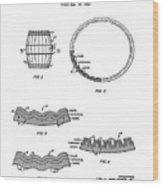 Whiskey Barrel Patent 1968 Wood Print