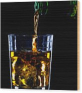Whiskey Being Poured Wood Print by Richard Thomas