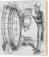Whiskey Ring Cartoon, 1876 Wood Print