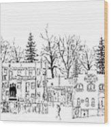 Whiskey Row Alley, Prescott Wood Print