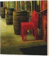 Whiskey Row Wood Print