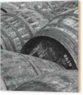 Whisky Barrels Wood Print by (C)Andrew Hounslea