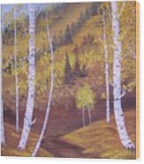 Whisper Of Leaves Wood Print