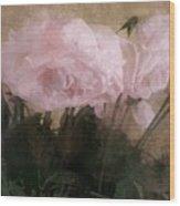 Whisper Of Pink Peonies Wood Print