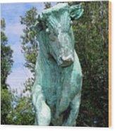 Whisper The Bull Wood Print