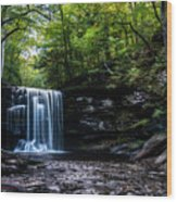 Whispering Falls Wood Print