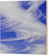 Whispy Clouds Wood Print