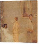 Whistler In His Studio James Abbott Mcneill Whistler Wood Print