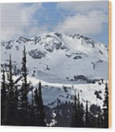 Whistler Mountain Peak View From Blackcomb Wood Print