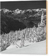 Whistler Mountain Winter Scenery Wood Print