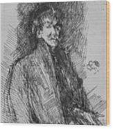 Whistler, Self-portrait.  Wood Print