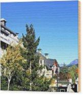 Whistler Village Wood Print