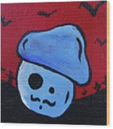 Whistlin Zombie Mushroom Wood Print by Jera Sky