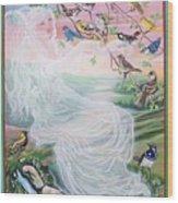 Whistling Angel-break Of Dawn   Wood Print