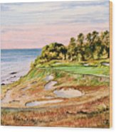 Whistling Straits Golf Course 17th Hole Wood Print by Bill Holkham
