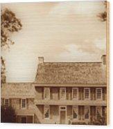 Whitall House Redbank Nj  Sepia Hdr Wood Print