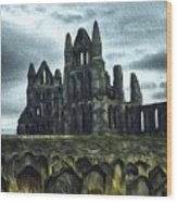 Whitby Abbey, England Wood Print