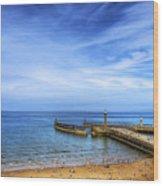 Whitby Beach Wood Print