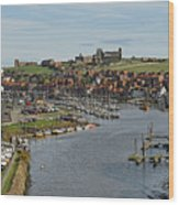 Whitby Marina And The River Esk Wood Print