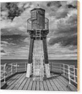 Whitby Pier Wood Print