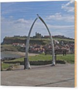 Whitby Whale Bone Arch  Wood Print
