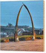 Whitby Whalebone Blue Hour Wood Print