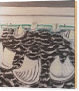 White And Grey Sailing Boats Wood Print
