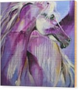 White Arabian Nights Wood Print by Laurie Pace