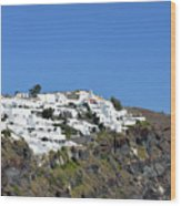 White Architecture In The City Of Oia In Santorini, Greece Wood Print