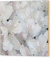 White Azaleas 1 Wood Print